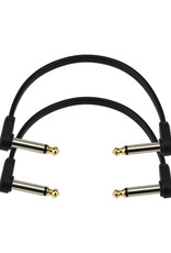 D'Addario D'Addario Flat Patch Cable, 6in Right Angle, Twin Pack