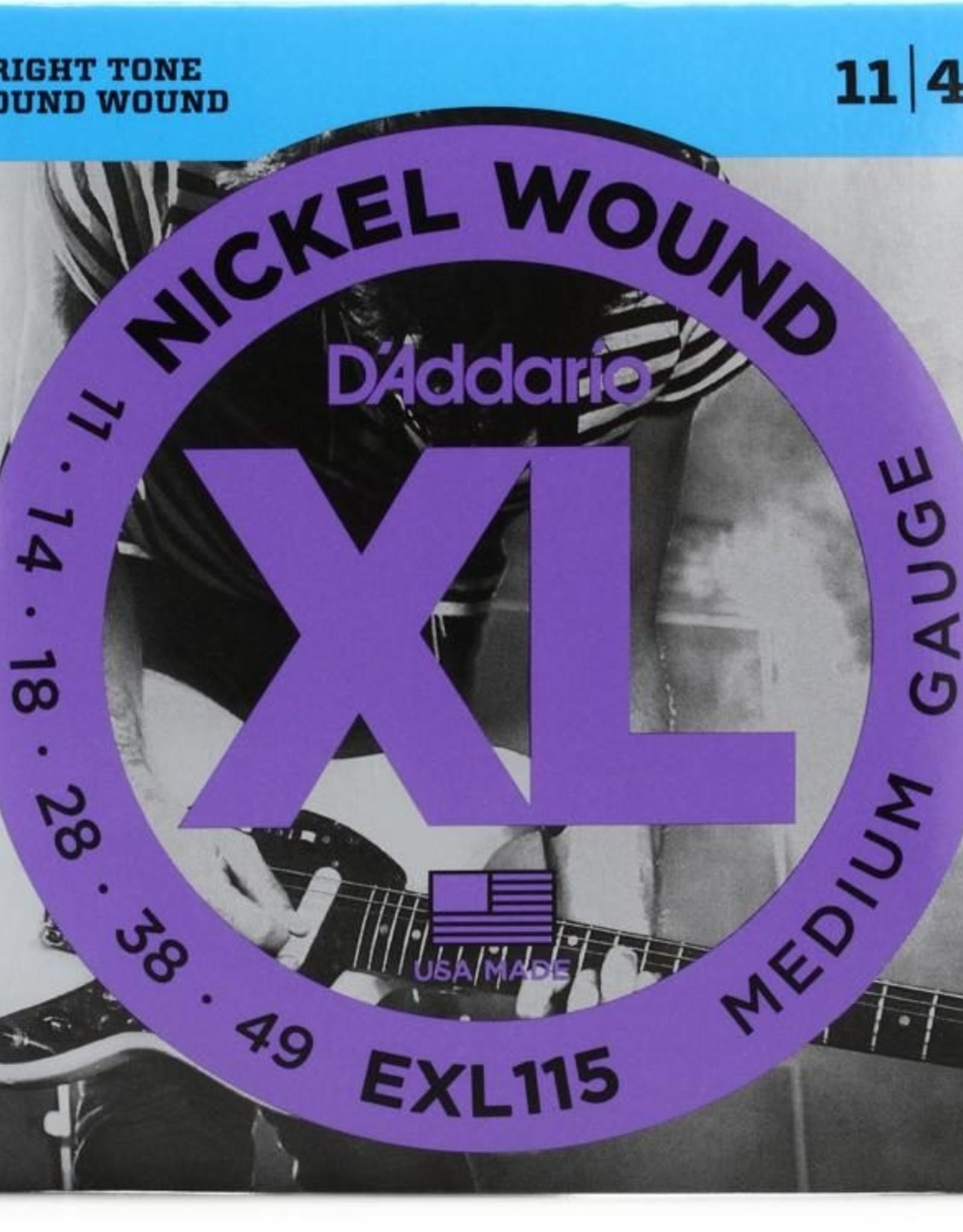D'Addario D'Addario EXL115 Nickel Medium Electric Guitar Strings 11-49