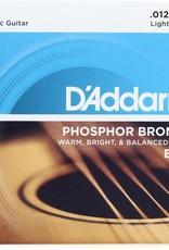 D'Addario D'Addario EJ16 Phosper Bronze Light Acoustic Guitar Strings 12-53