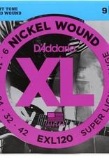 D'Addario D'Addario EXL120 Nickel Super Light Electric Guitar Strings 9-42