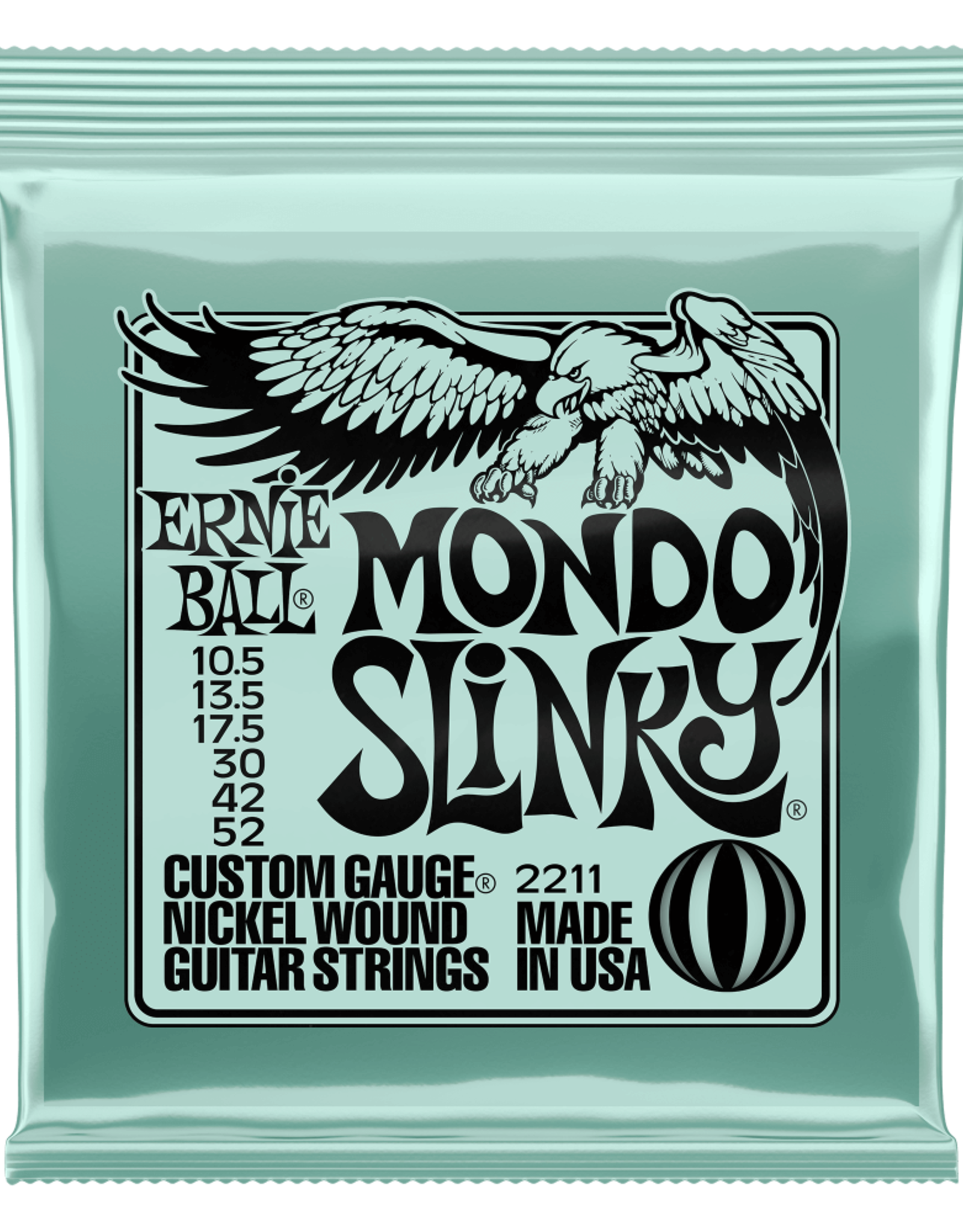 Ernie Ball Mondo Slinky Nickel Wound Strings, 10.5-52