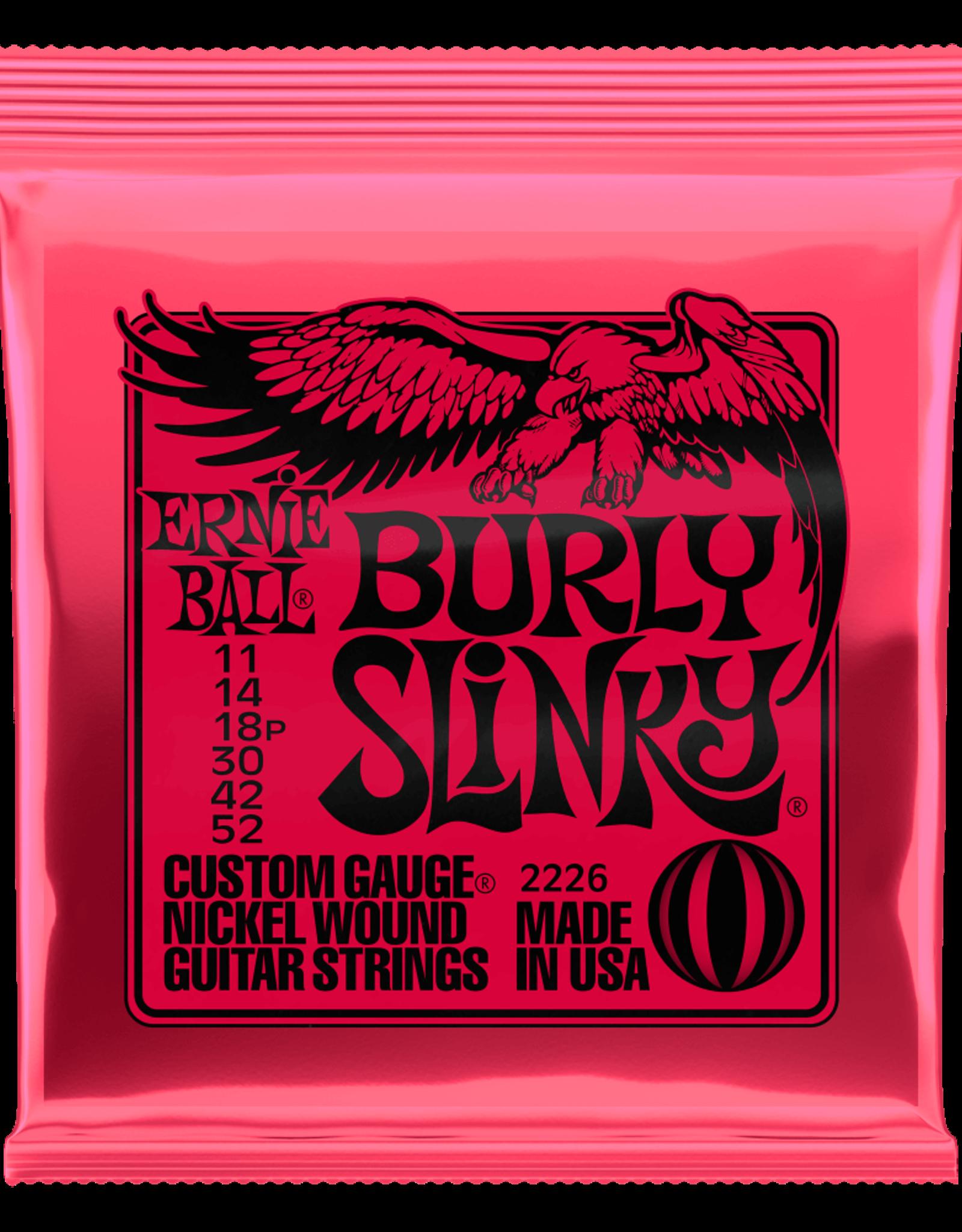 Ernie Ball Burly Slinky Nickel wound Electric Guitar Strings 11 - 52 Gauge