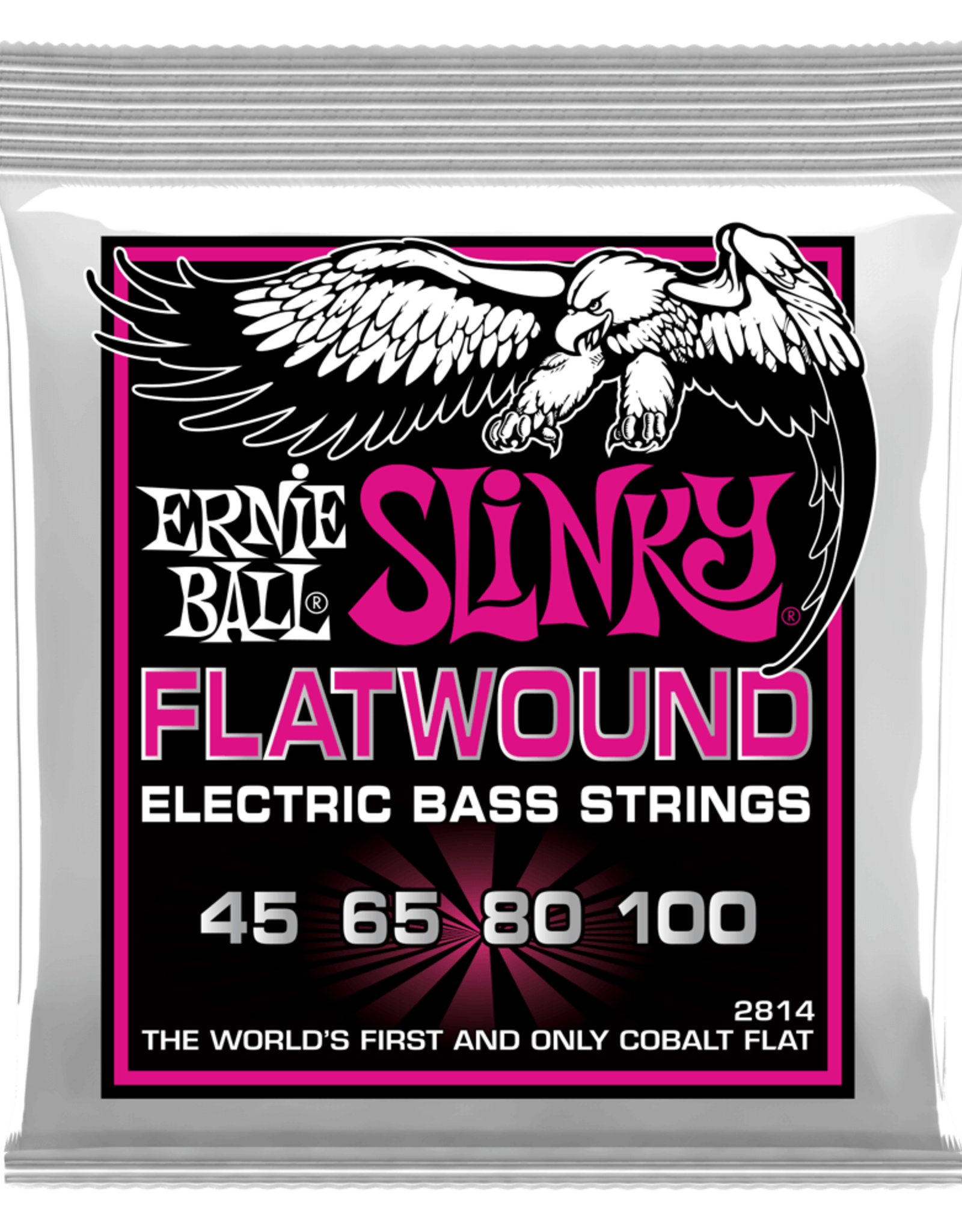 Ernie Ball Super Slinky Flatwound Electric Bass Strings, 45-100