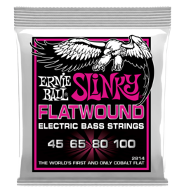 Ernie Ball Super Slinky Flatwound Electric Bass Strings, 45-100