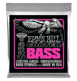 Ernie Ball Super Slinky Coated Electric Bass Strings, 45-100