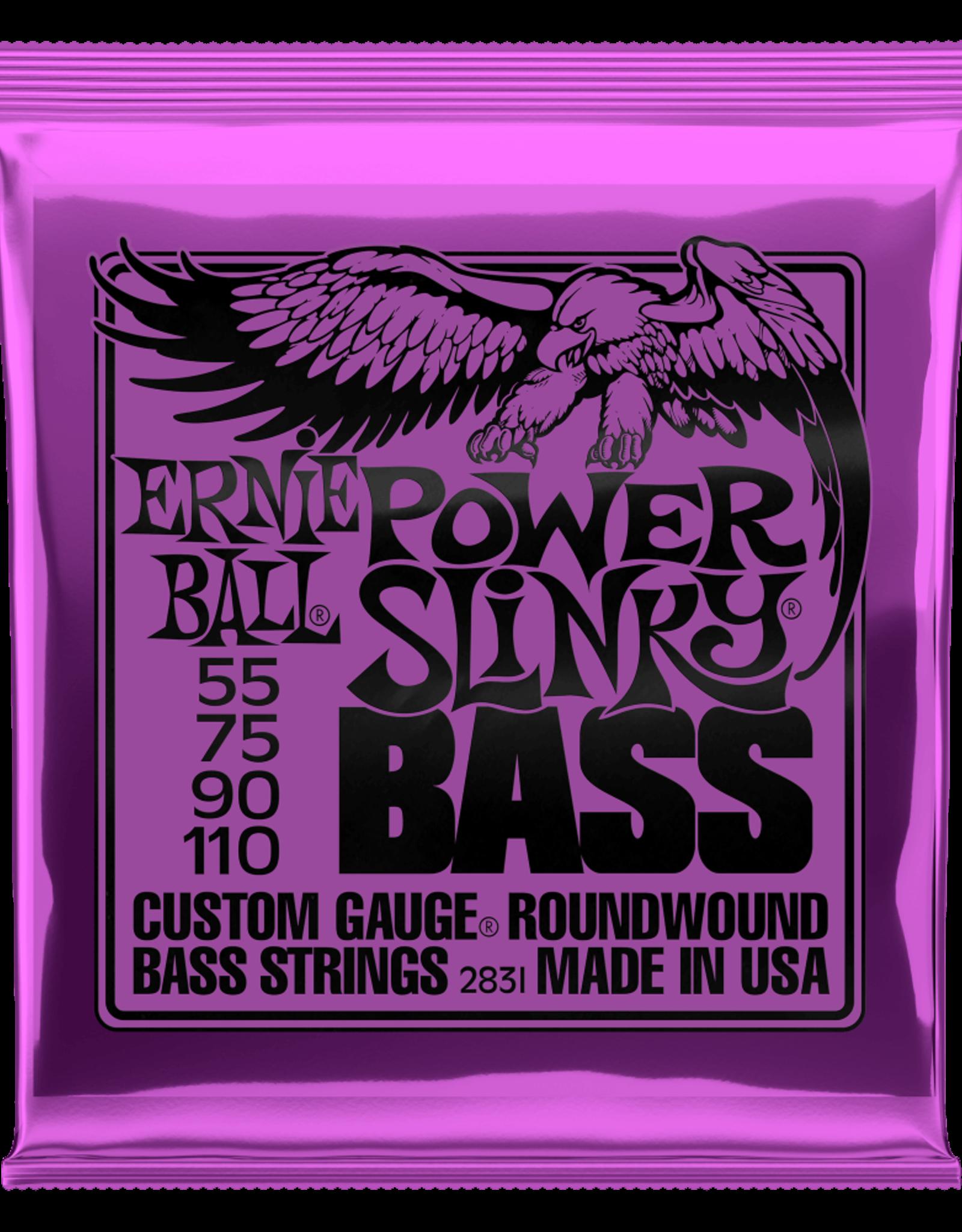 Ernie Ball Power Slinky Nickel Wound Electric Bass Strings 55-110