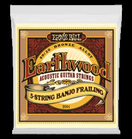 Ernie Ball Earthwood 5-String Banjo Frailing Loop End 80/20 Bronze Acoustic Guitar Strings