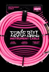 Ernie Ball Ernie Ball 25' Braided Instrument Cable, Neon Pink