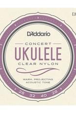 D'Addario D'Addario EJ65C Concert Uke Clear Nylon Strings