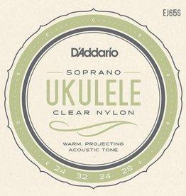 D'Addario D'Addario Soprano Uke Clear Nylon Strings