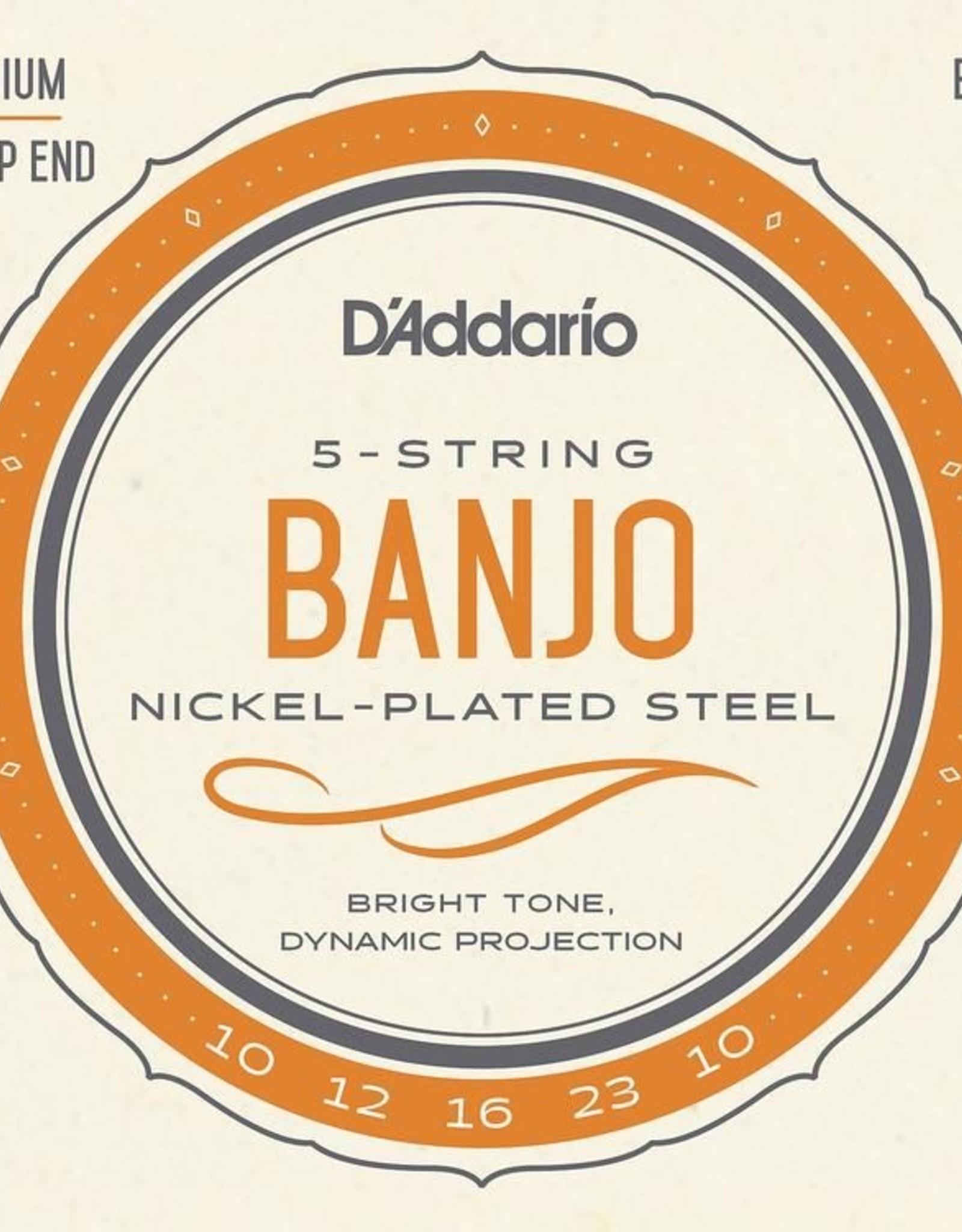 D'Addario D'Addario EJ61 Nickel Medium Banjo Strings 10-21