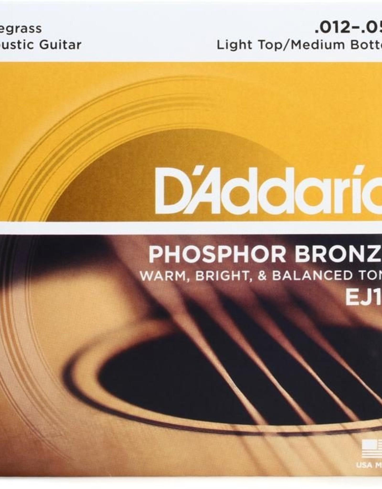 D'Addario D'Addario EJ19 Phosphor Bronze Bluegrass 12-56