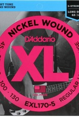 D'Addario D'Addario EXL170-5 Nickel Regular Light 5 String Bass strings 45-130