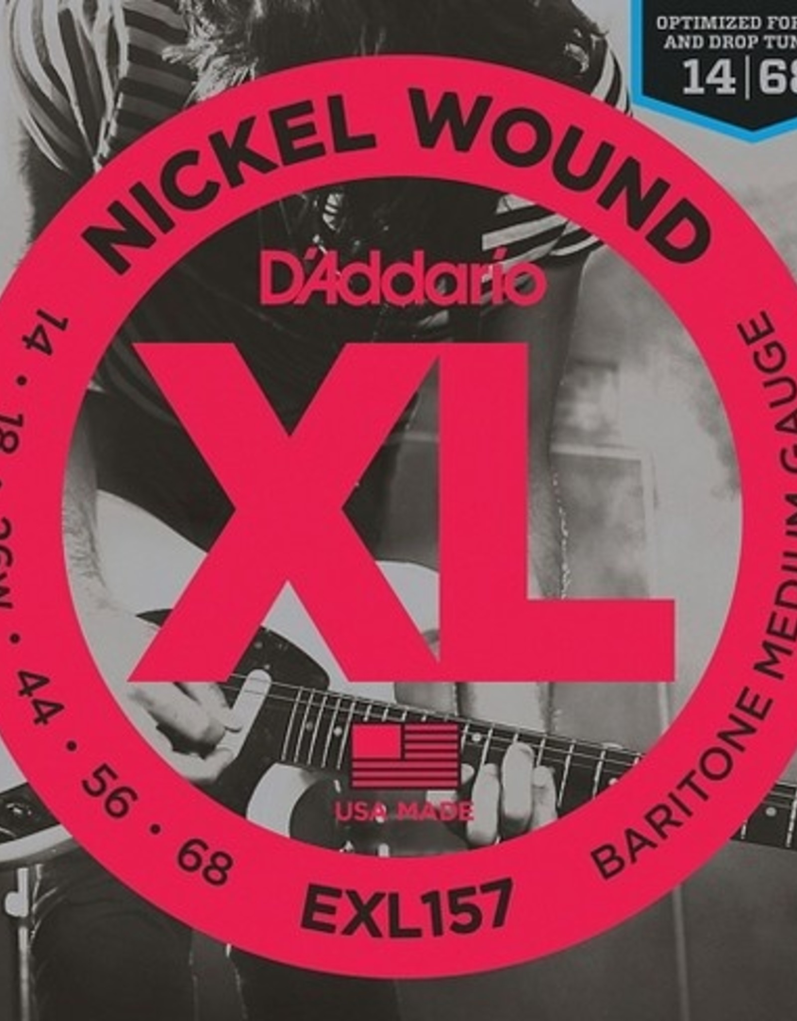 D'Addario D'ADDARIO EXL157 BARITONE GUITAR XL MED