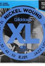 D'Addario D'Addario EJ21 Nickel Wound Jazz Light 12-52