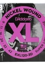 D'Addario D'Addario 3-PACK EXL120-3D 9-42