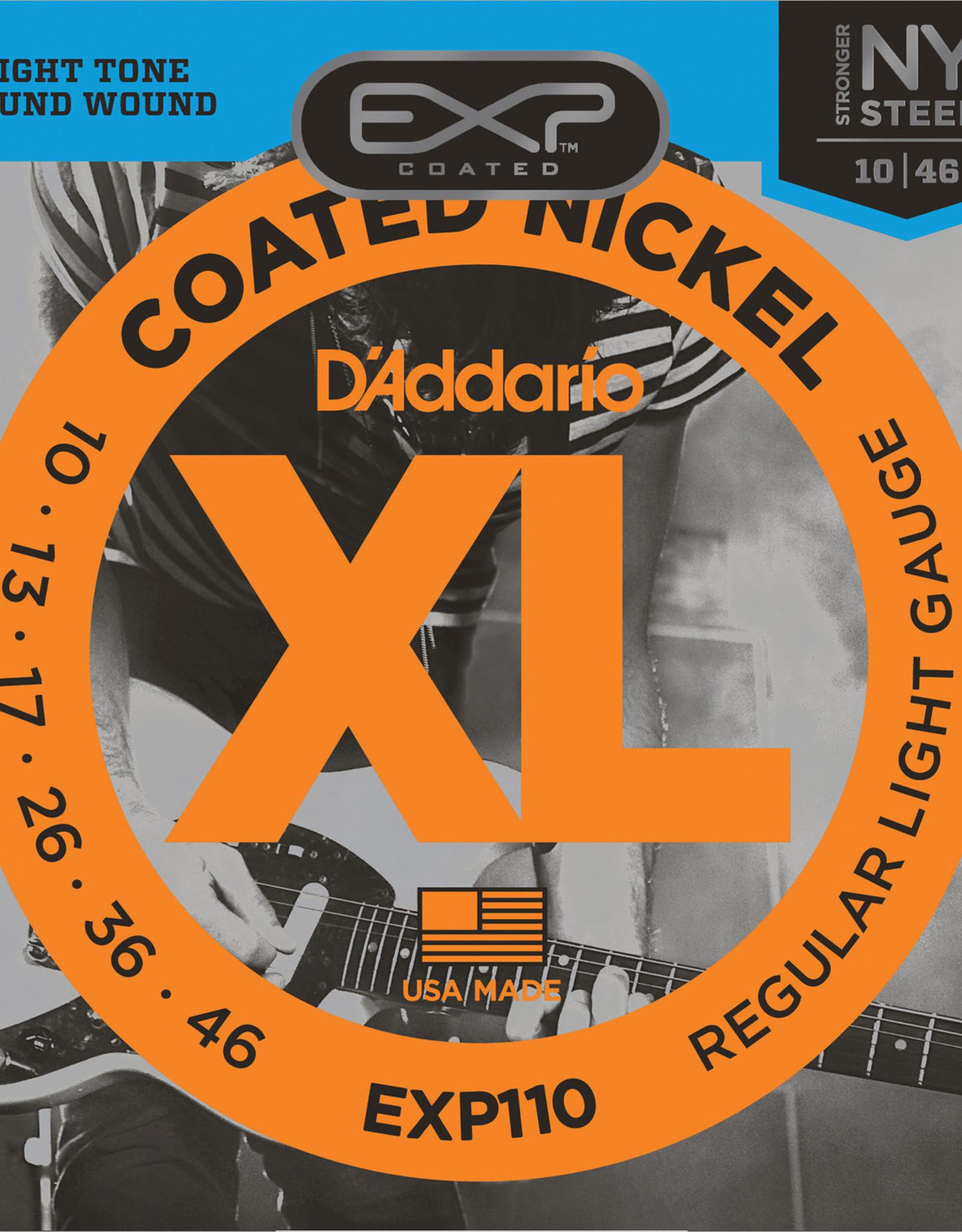 D'Addario D'Addario EXP110, 10-46 Coated Electric Guitar Strings Regular Light