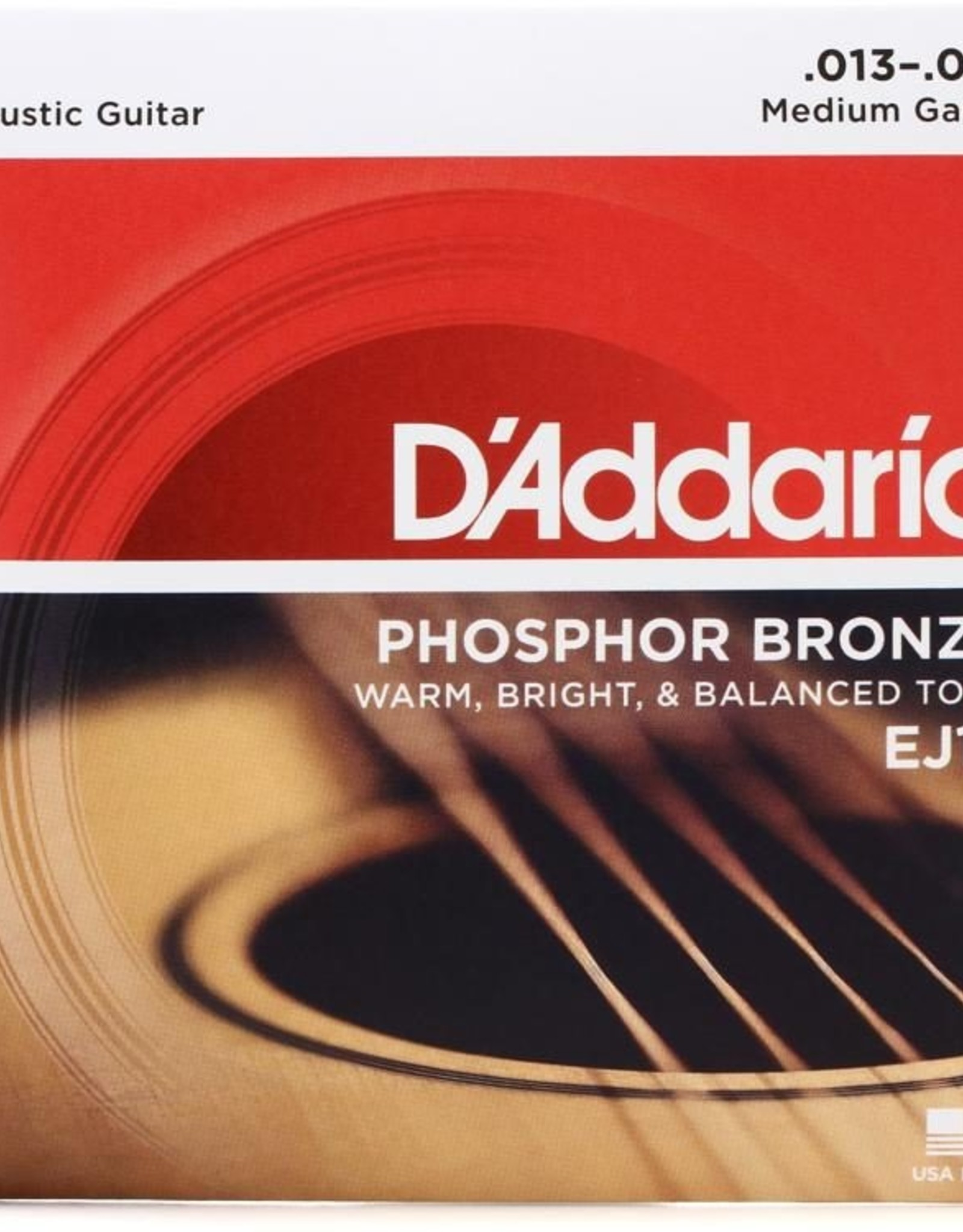 D'Addario D'Addario EJ17 3-Pack Phosphor Bronze Acoustic Guitar Strings