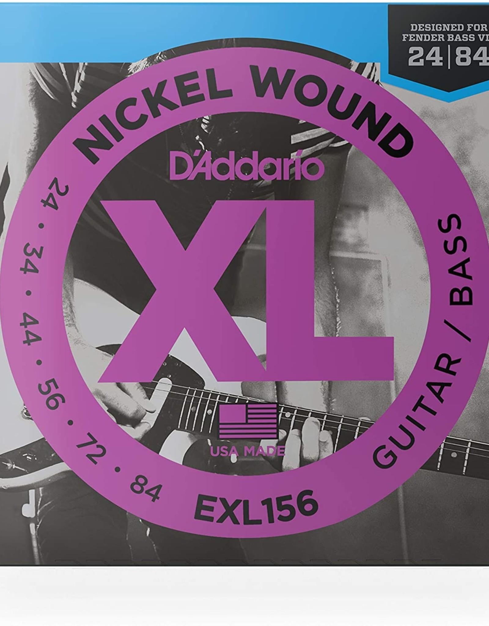 D'Addario D'addario Fender Bass VI Nickel Wound, 24-84