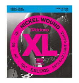 D'Addario D'addario EXL170s Short Scale Bass Strings 45-100