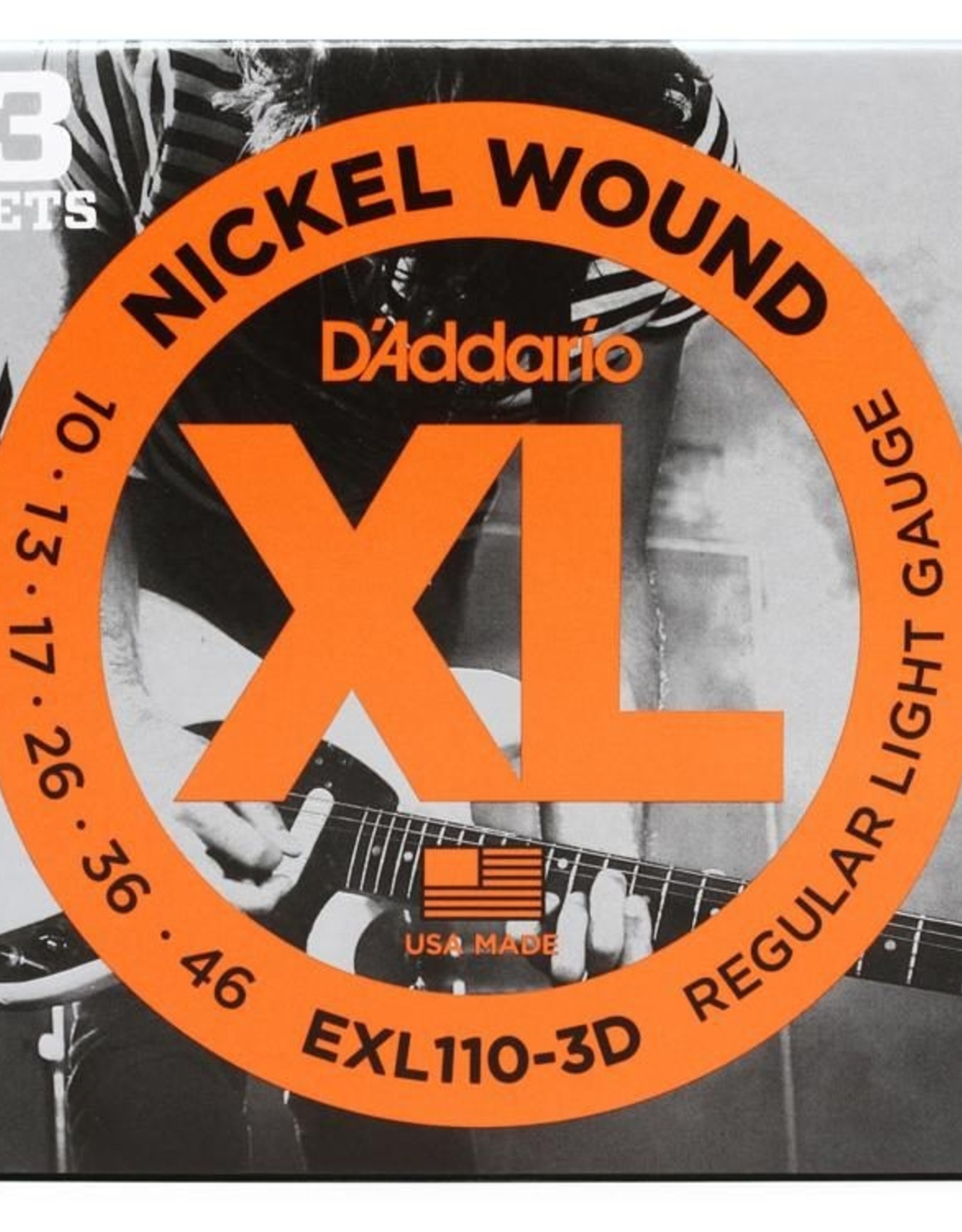 D'Addario D'addario EXL110 3D, 3-Pack Electric Guitar Strings