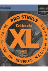D'Addario D'addario EPS160-5 5 String Bass Pro Steels 50-135