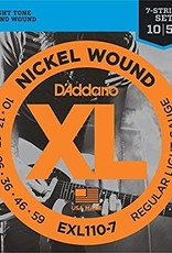 D'Addario D'addario EXL110-7 Nickel Wound 7 String Electric Guitar Strings 10-59