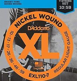 D'Addario D'addario EXL110-7 Nickel Wound 7 String Electric Guitar Strings 10-59