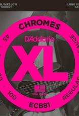 D'Addario D'Addario ECB81 Bass Chromes 45-100 Long Scale