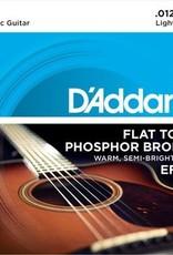 D'Addario D'addario Flat Top Phosphor Bronze Acoustic Strings 12-53
