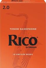D'Addario Rico Tenor Sax #2 Reeds, 10 Box
