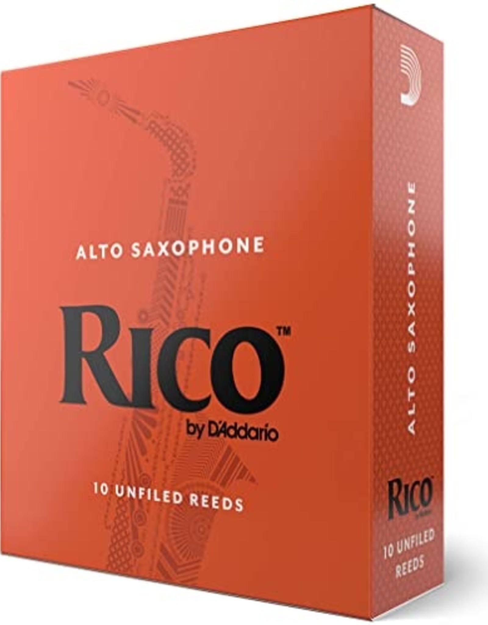 D'Addario Rico Alto Saxophone 2.0 Reeds, 10 Box