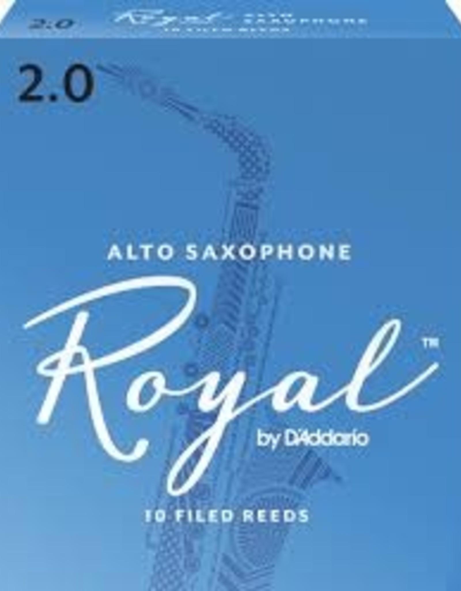 D'Addario Royal Alto Sax 2.0 Reeds, 10 Box