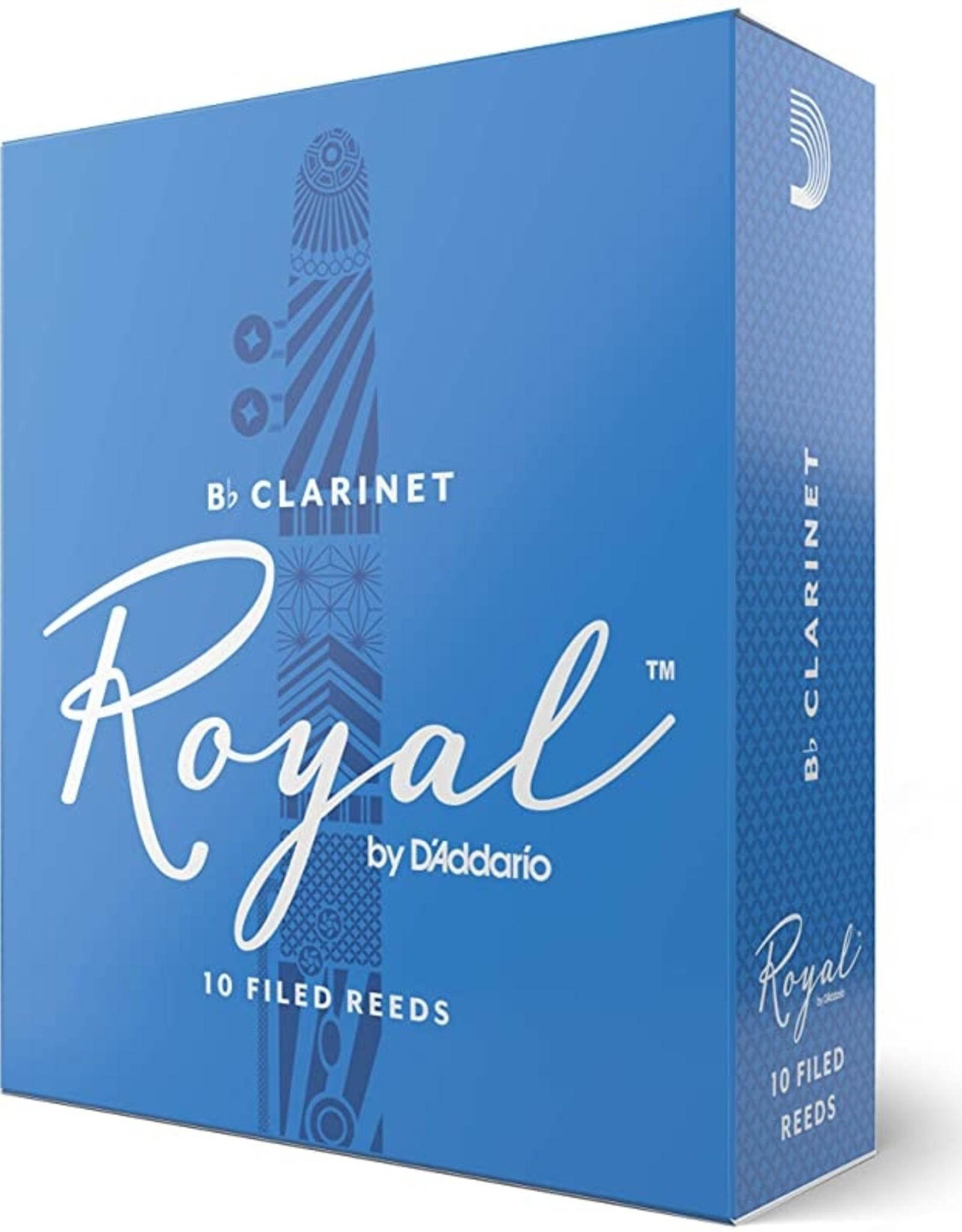 D'Addario Royal Bb Clarinet 2.0 Reeds, 10 Box