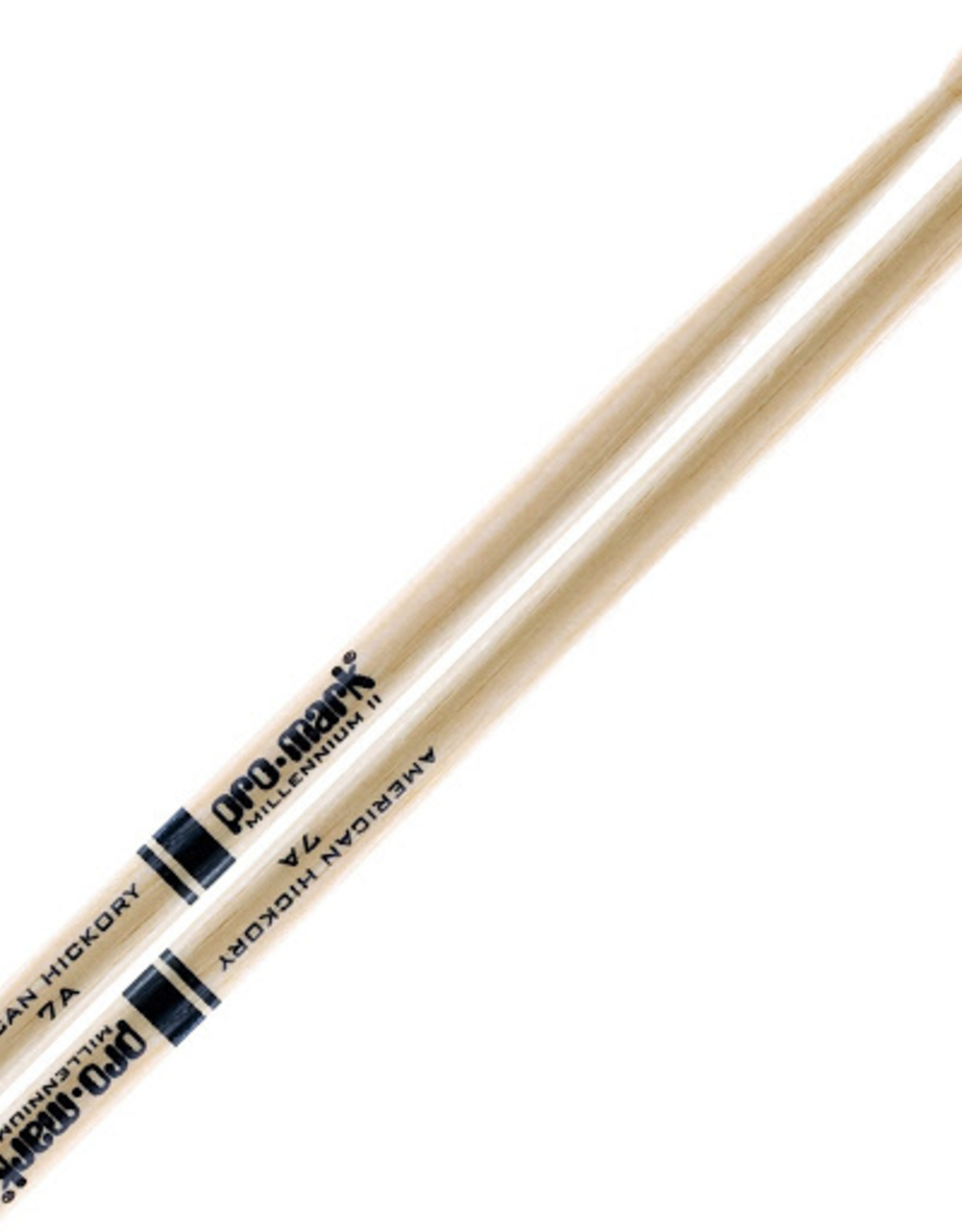 Promark Promark 7A American Hickory Wood Tip Drumsticks