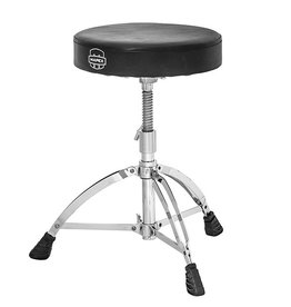 "Mapex Mapex Double Braced 3-Leg Black Vinyl 2.5"" Cushion Round Throne w/ Steel Spindle Height Adjustment"