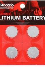 D'Addario D'addario CR2032 Lithium Battery, 4-Pack