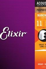 ELIXIR ELIXIR PhosBrnz Custom light Nanoweb .011-.052