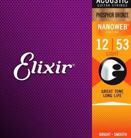 ELIXIR Elixir Phosphor Bronze Light Nanoweb .012-.053