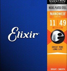 ELIXIR Elixir Electric Nanoweb Medium Plated Steel Strings .11-.49