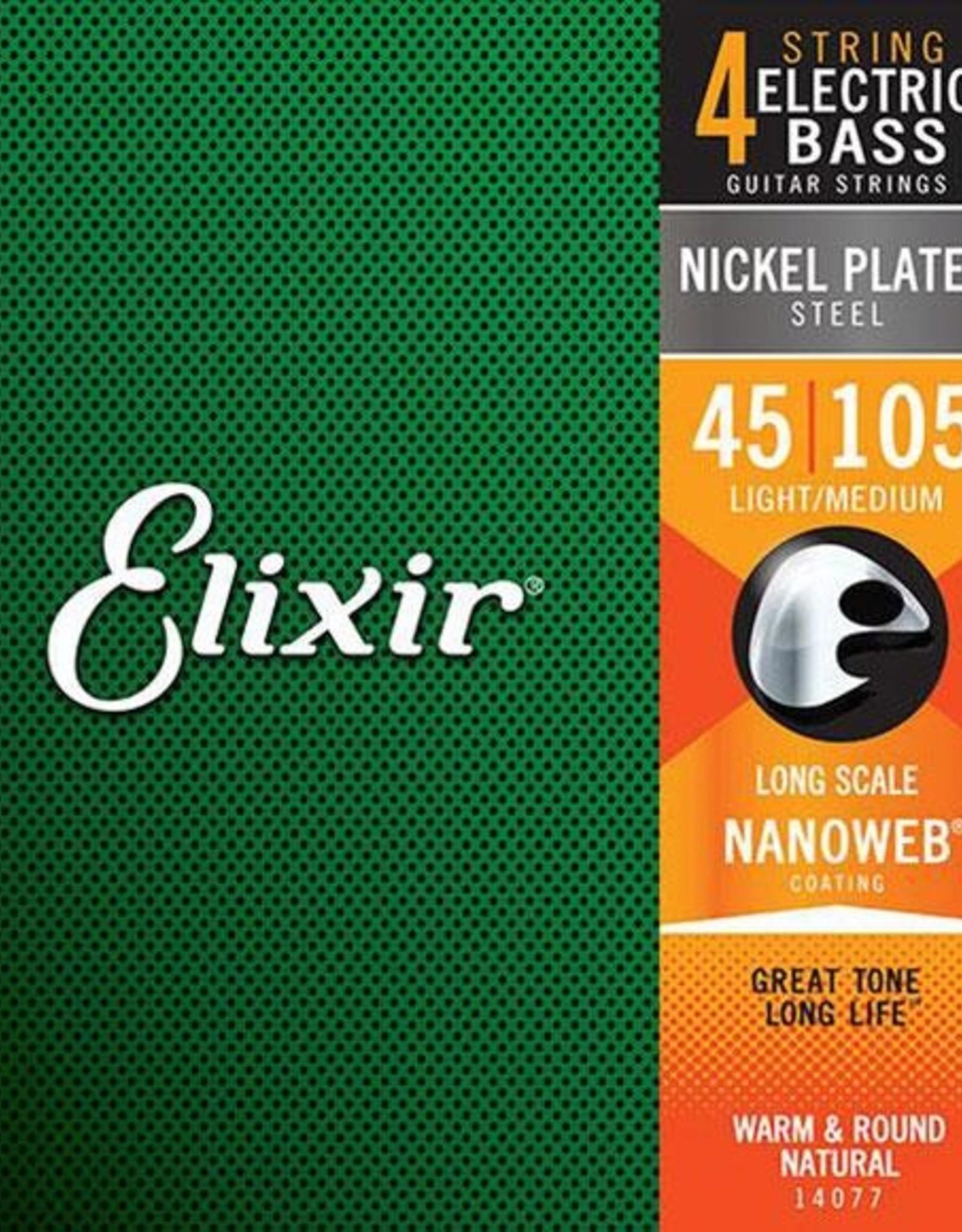ELIXIR ELIXIR BASS NANO LITE LONG 45-100 Bass strings