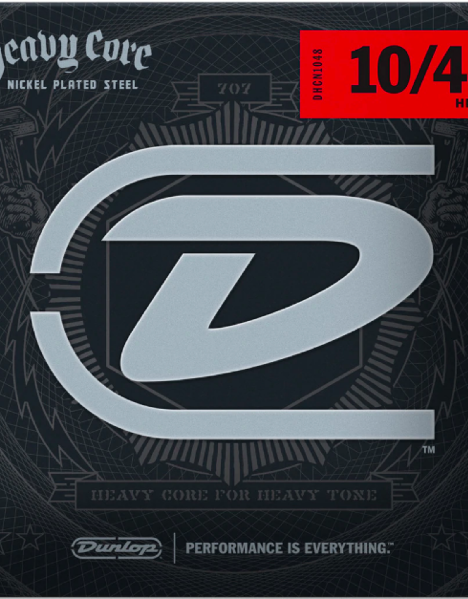Dunlop Dunlop DHCN1048 Heavy Core Guitar Strings, Heavy, .010–.048