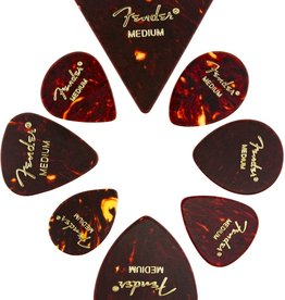 Fender Fender Pick Celluloid Shape Medley, Medium, 8-Pack