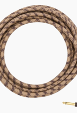 Fender Fender 10' Angled Festival Cable, Pure Hemp, Brown Stripe