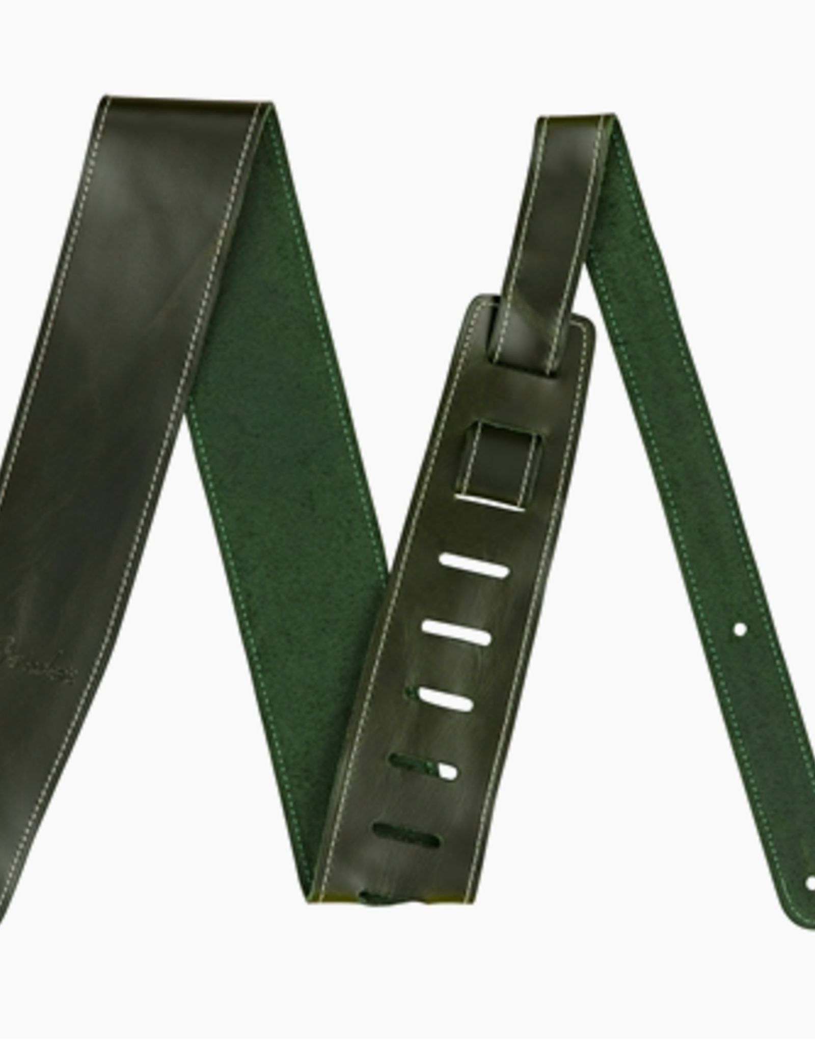Fender Fender Broken-In Leather Strap, Green 2.5