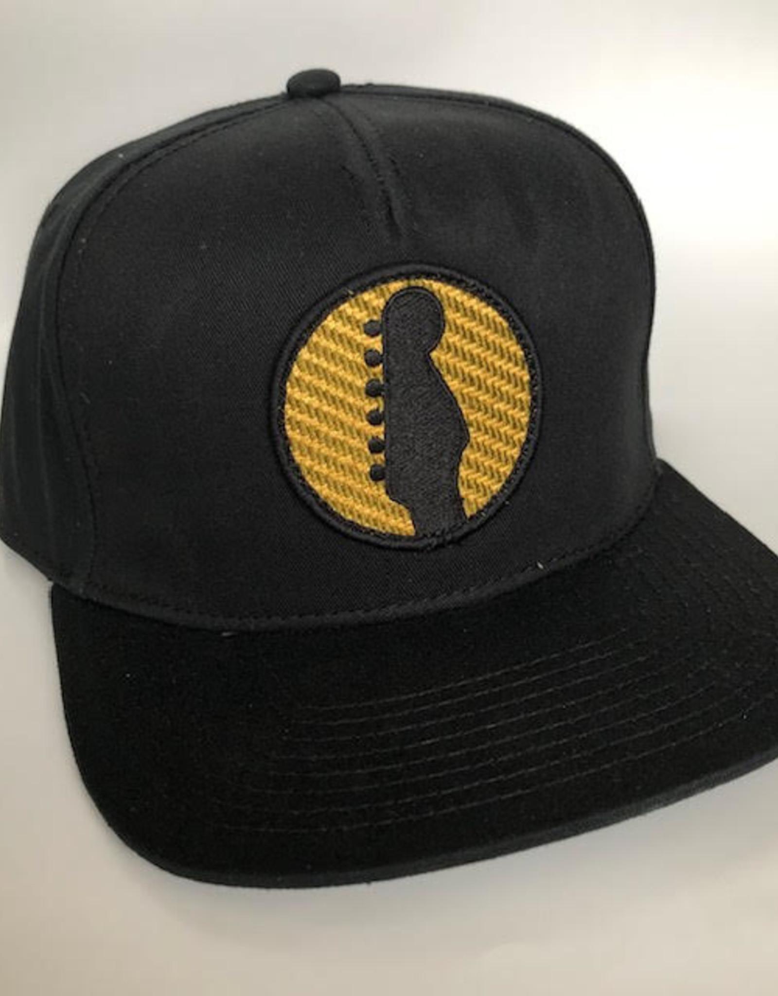 Fender Fender Headstock Twill Snapback Hat, Black
