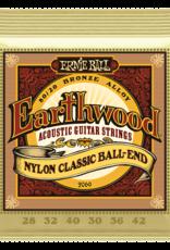 Ernie Ball Earthwood Folk Nylon 80/20 Bronze/Nylon Ball End