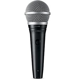 """Shure Shure PGA48 Vocal Mic w/ XLR to 1/4"""" Cable"""