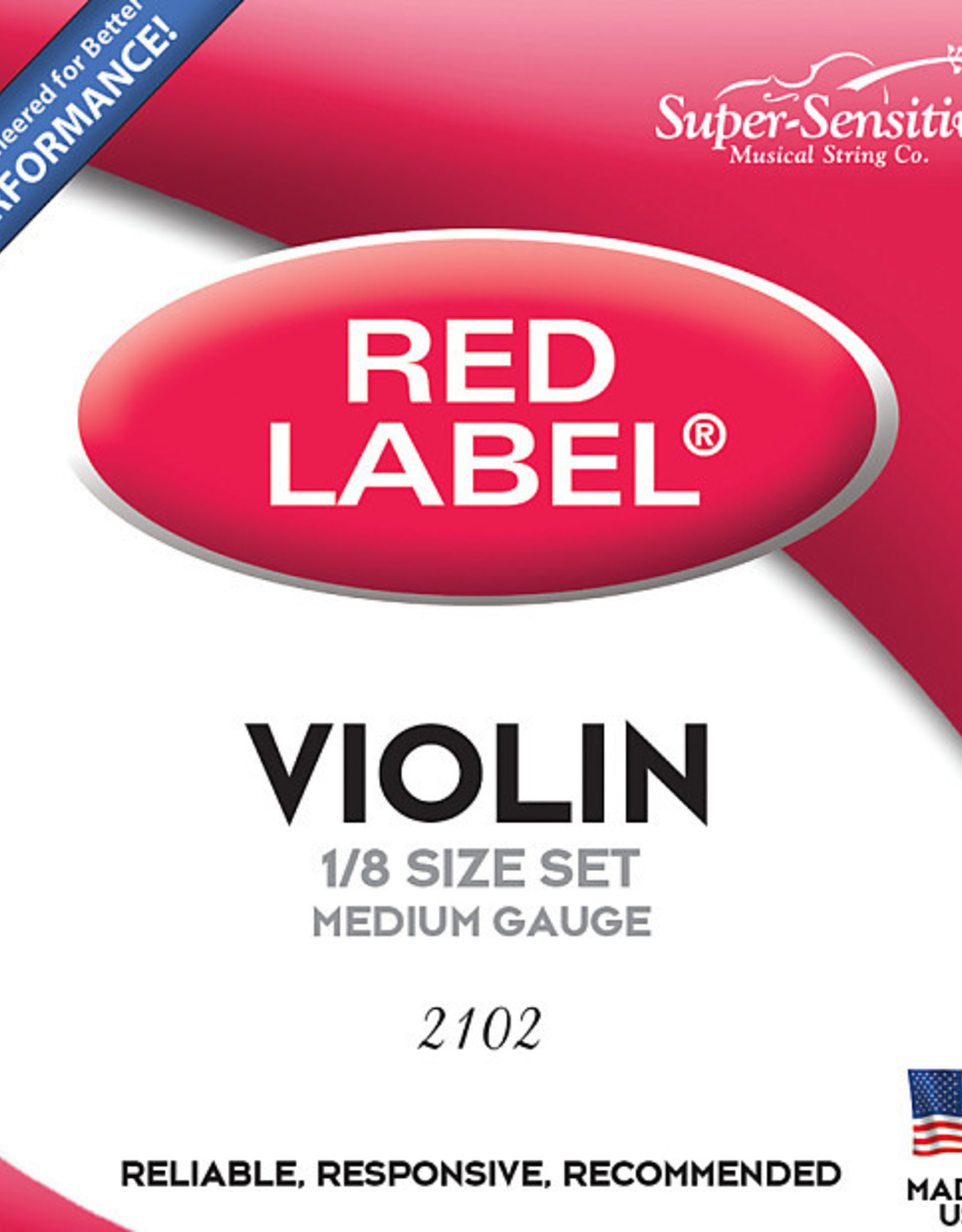Supersensitive VIOLIN SUPER-SENSITIVE RED LABEL 1/2 SET