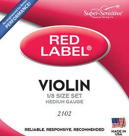 Supersensitive Super-Sensitive Violin String Set, Red Label 1/2